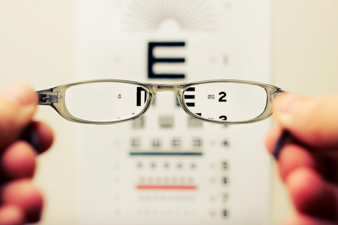 Linda Pritcher Blog Post - Photo of eyeglasses and chart